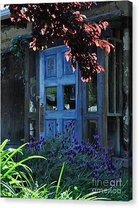 Locked Blue Door  Canvas Print