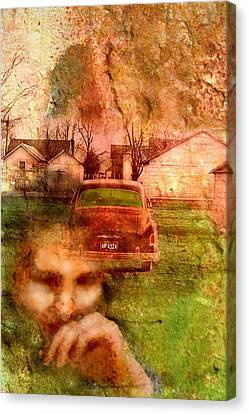 1950s Portraits Canvas Print - Locked Cars And Unknown Destinations by James Huntley