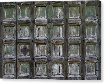 Canvas Print featuring the digital art Locked Door by Ron Harpham