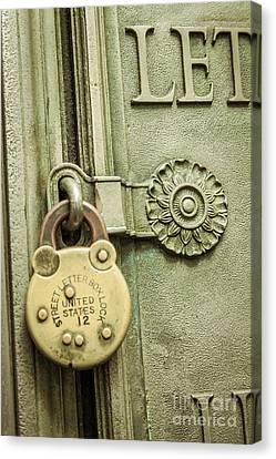 Locked Canvas Print by Lee Wellman