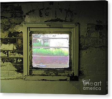 Locked Out Or Locked In  Canvas Print by GG Burns