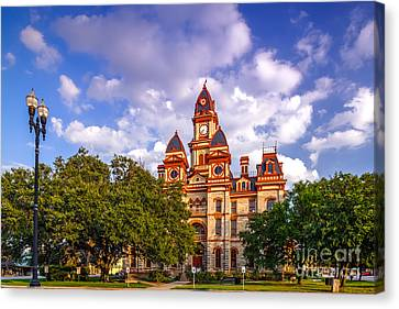 Lockhart Courthouse - Lockhart Texas Canvas Print by Silvio Ligutti
