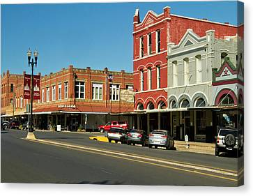Comanche Canvas Print - Lockhart, Texas Main Street by Larry Ditto