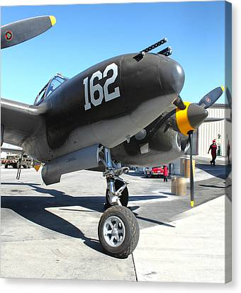 Lockheed P-38 - 162 Skidoo - 01 Canvas Print by Gregory Dyer