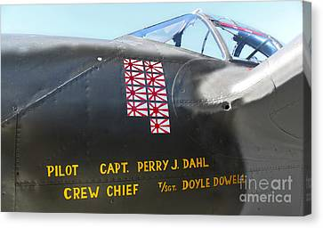 Lockheed P-38 - 162 Skidoo - 03 Canvas Print by Gregory Dyer