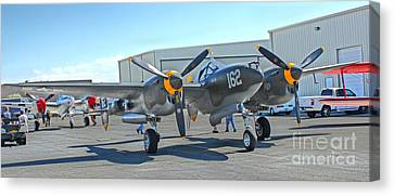 Lockheed P-38 - 162 Skidoo - 06 Canvas Print by Gregory Dyer
