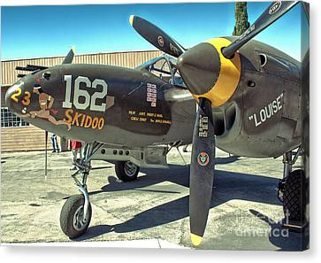 Lockheed P-38 - 162 Skidoo - 07 Canvas Print by Gregory Dyer