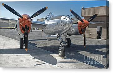 Lockheed P-38l Lightning Honey Bunny  - 01 Canvas Print by Gregory Dyer