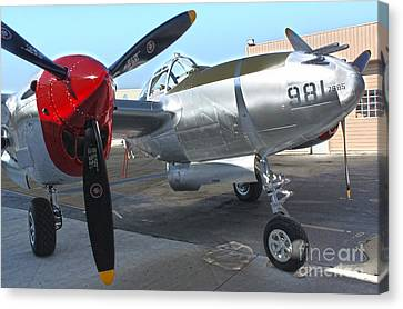 Lockheed P-38l Lightning Honey Bunny  - 03 Canvas Print by Gregory Dyer