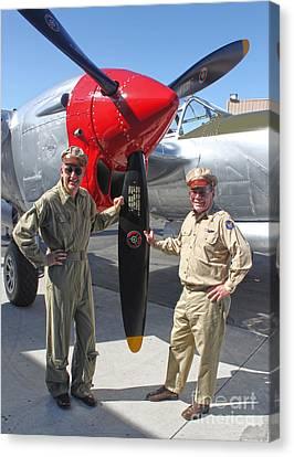Lockheed P-38l Lightning Honey Bunny  - 04 Canvas Print by Gregory Dyer