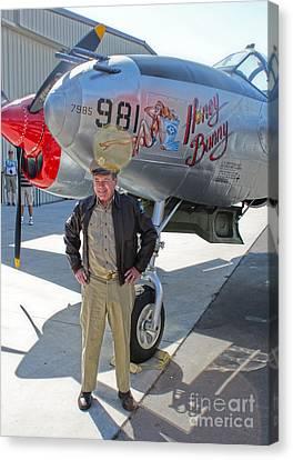 Lockheed P-38l Lightning Honey Bunny  - 06 Canvas Print by Gregory Dyer