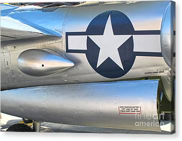 Lockheed P-38l Lightning Honey Bunny  - 10 Canvas Print by Gregory Dyer