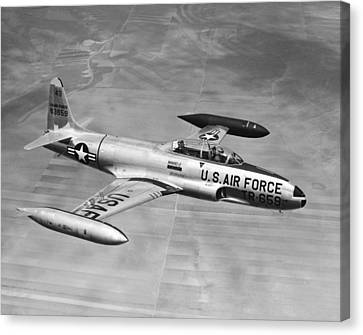 Lockheed T-33 Jet  Trainer Canvas Print by Underwood Archives