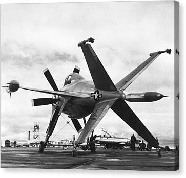 Lockheed's Vtol Aircraft Canvas Print by Underwood Archives