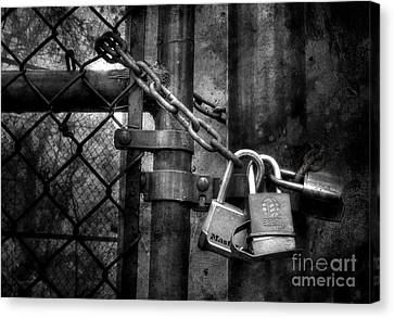 Locks Locking Locks Canvas Print