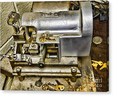 Locksmith - The Key Maker Canvas Print by Paul Ward