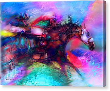Locommotion Canvas Print by Kari Nanstad