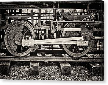 Locomotion Bw Canvas Print