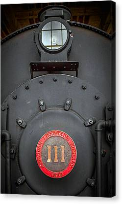 Locomotive 111 Canvas Print by Marion Johnson