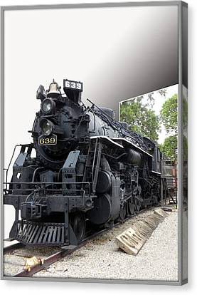 Locomotive 639 Type 2 8 2 Out Of Bounds Canvas Print by Thomas Woolworth