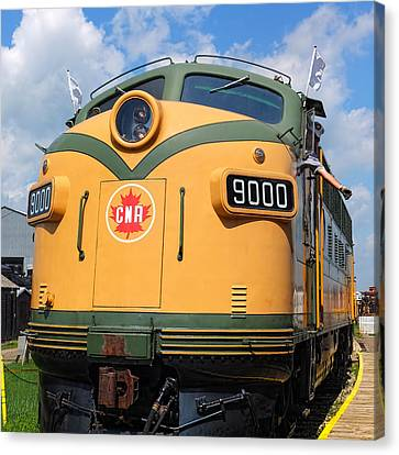Locomotive 9000  Canvas Print by Carol Cottrell