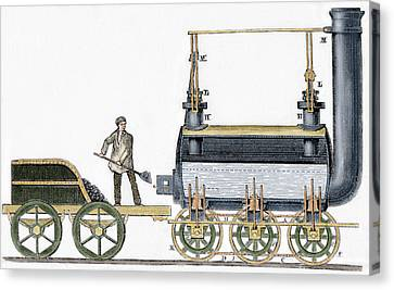 Locomotive Canvas Print by George Stephenson