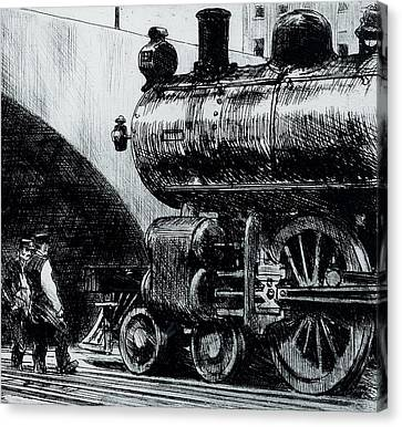 Locomotive Canvas Print by Edward Hopper