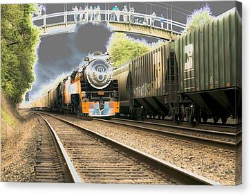 Locomotive Engine 4449 Canvas Print
