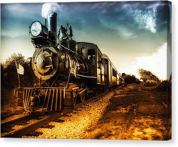 Vintage Trains Canvas Print - Locomotive Number 4 by Bob Orsillo