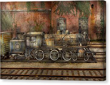 Locomotive - Our Old Family Business Canvas Print by Mike Savad