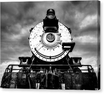 Locomotive Smile B And W Canvas Print