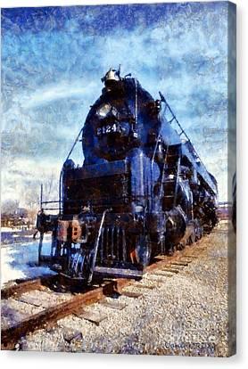 Locomotive Train 2124 Canvas Print by Janine Riley