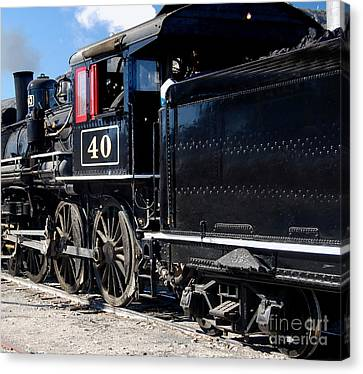 Canvas Print featuring the photograph Locomotive With Tender by Gunter Nezhoda