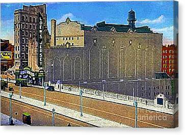 Loew's Jersey Theatre In Jersey City N J Around 1930 Canvas Print