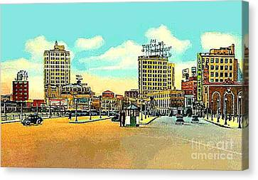 Loew's Jersey Theatre On Journal Square In Jersey City N J In The 1930s Canvas Print