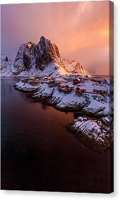 Lofoten Landscape Canvas Print by Alex Conu
