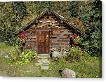 Log Cabin Kantishna, Alaska, Mnt Canvas Print