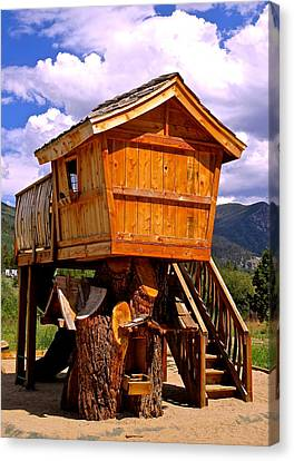 Log Cabin Penthouse Canvas Print by Jeff Gater