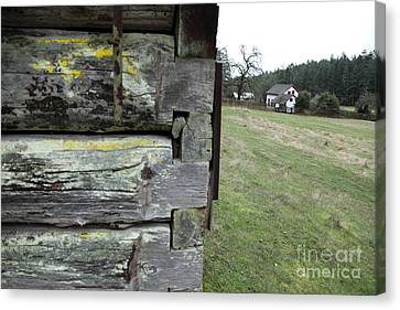 Log House Detail Canvas Print by Graham Foulkes