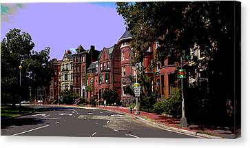 Logan Circle Canvas Print