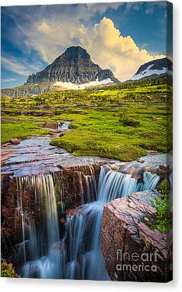 Reynolds Canvas Print - Logan Pass Landscape by Inge Johnsson