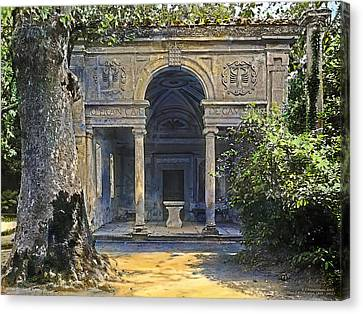 Loggia Of The Muses Canvas Print by Terry Reynoldson