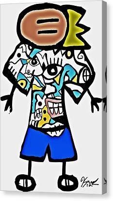 Logo Remixage  Canvas Print by Kamoni Khem