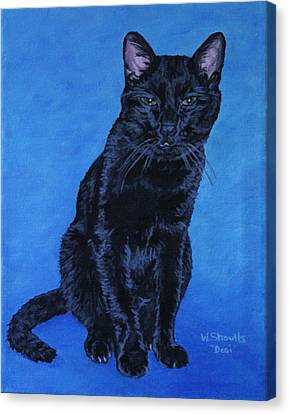 Canvas Print featuring the painting Loki by Wendy Shoults