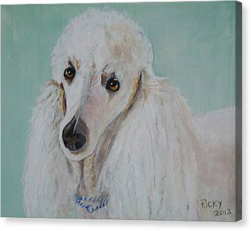 Lola Blue - Painting Canvas Print by Veronica Rickard