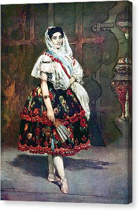 Lola Of Valencia Canvas Print by Edouard Manet