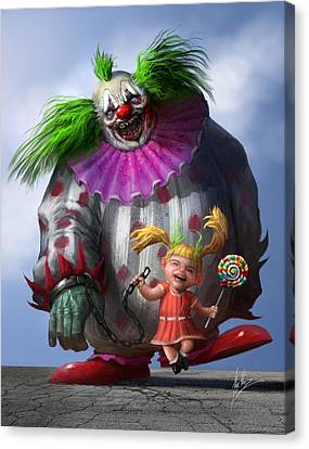 Creepy Canvas Print - Lollipop by Alex Ruiz