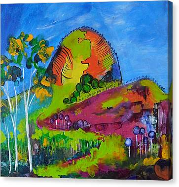 Lollipop Mountain Canvas Print by Lyn Olsen