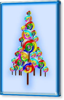 Lollipop Tree Canvas Print by Anastasiya Malakhova