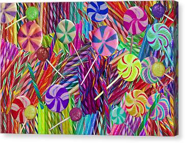 Lolly Pop Twists Canvas Print by Alixandra Mullins
